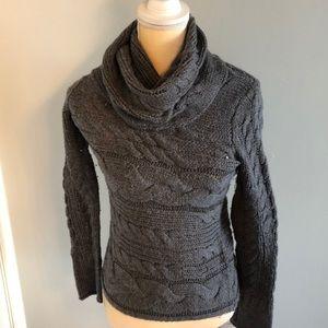 Grey turtleneck sweater from Banana Republic.